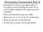 determining transpiration rate ii