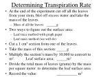 determining transpiration rate