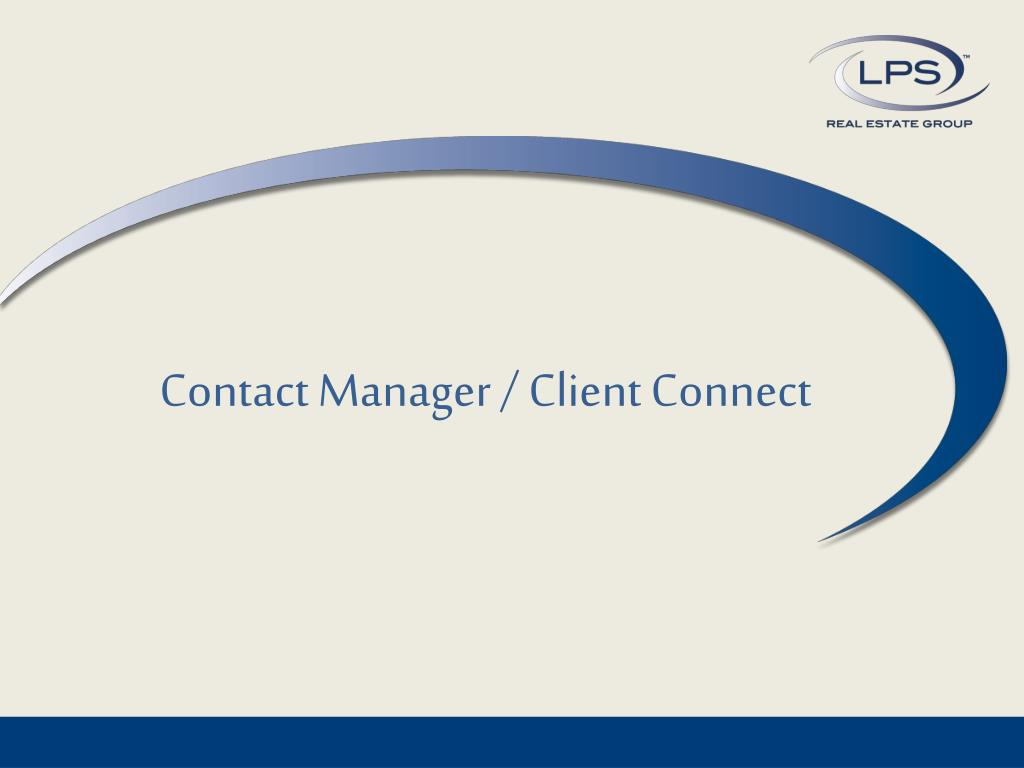 contact manager client connect l.