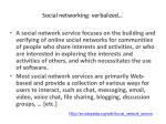 social networking verbalized