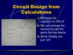 circuit design from calculations