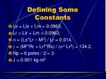 defining some constants25