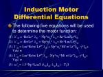 induction motor differential equations