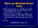 more on blocked rotor test