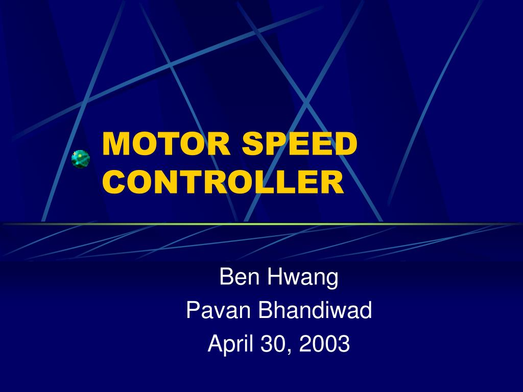 motor speed controller l.