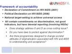 framework of accountability