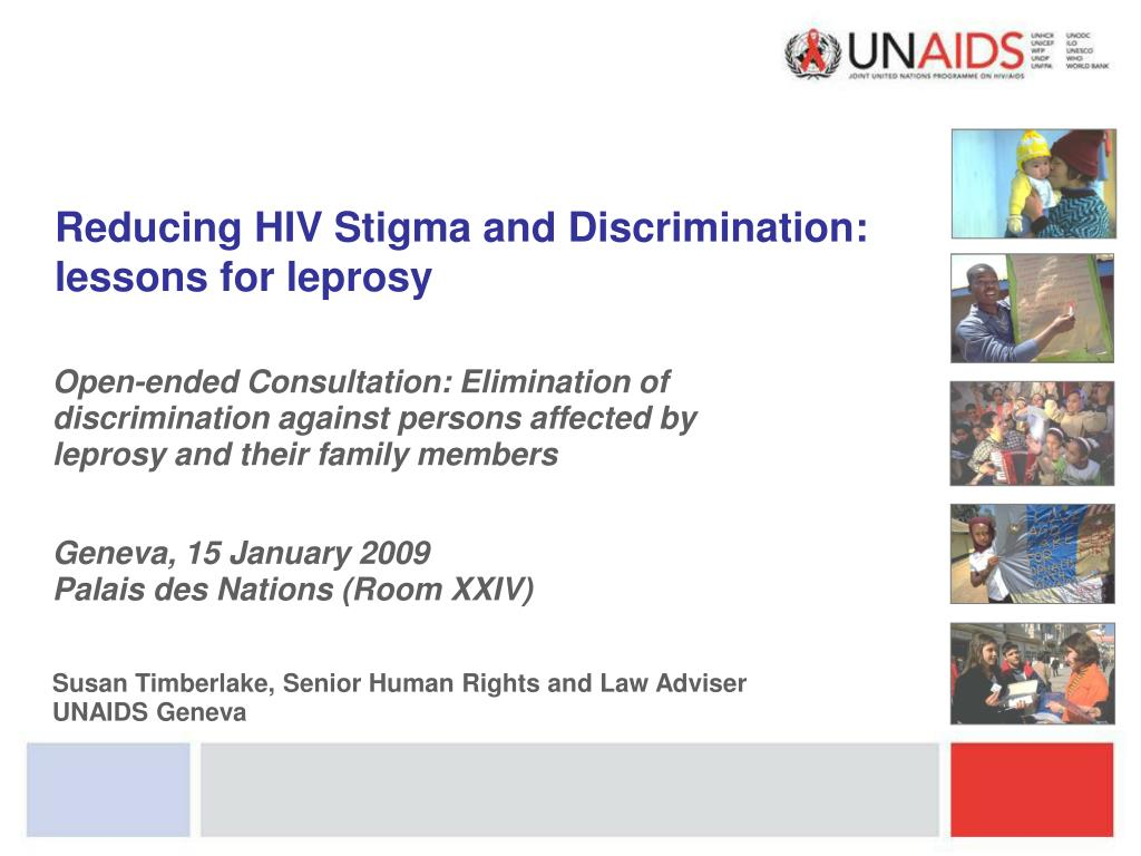 reducing hiv stigma and discrimination lessons for leprosy l.