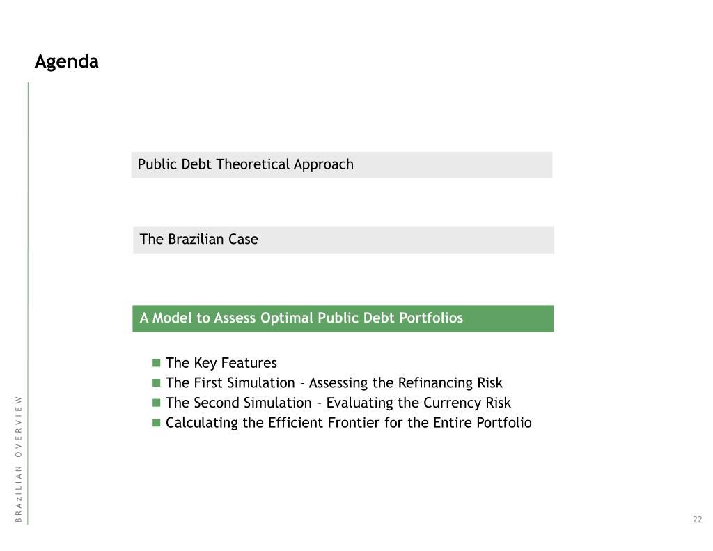 A Model to Assess Optimal Public Debt Portfolios
