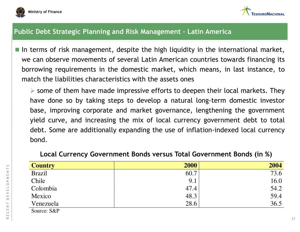 Public Debt Strategic Planning and Risk Management – Latin America