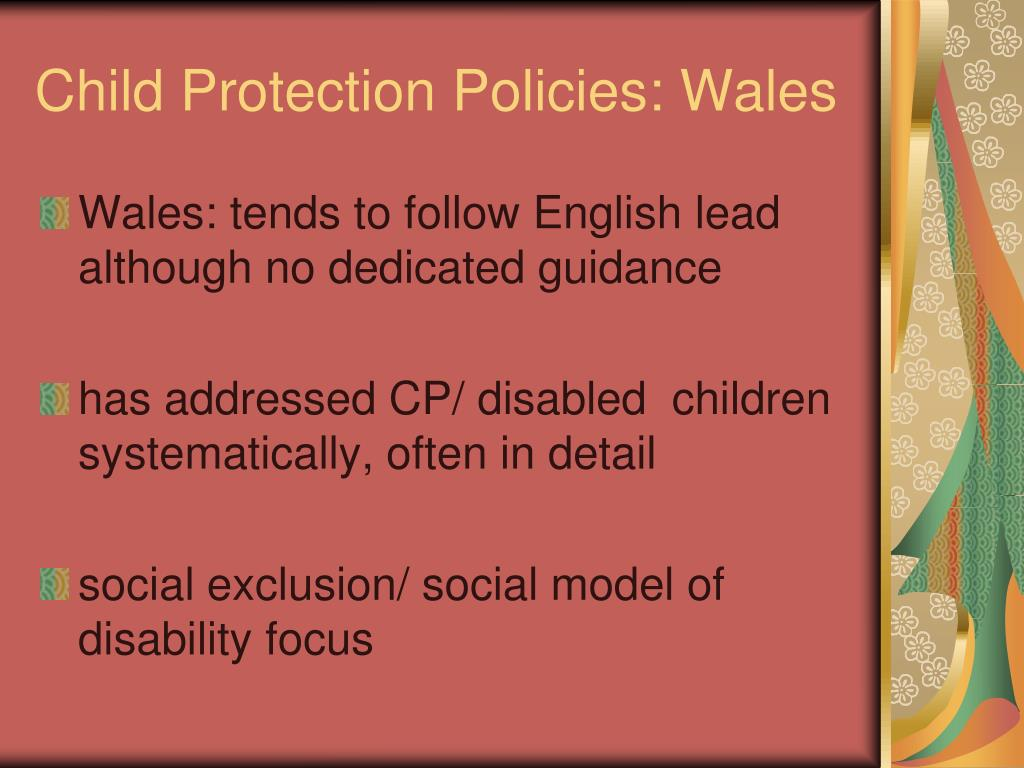 Child Protection Policies: Wales