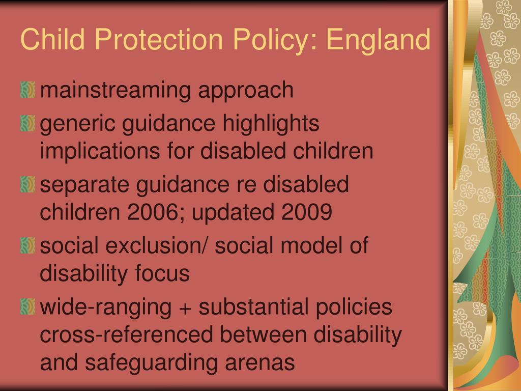 Child Protection Policy: England