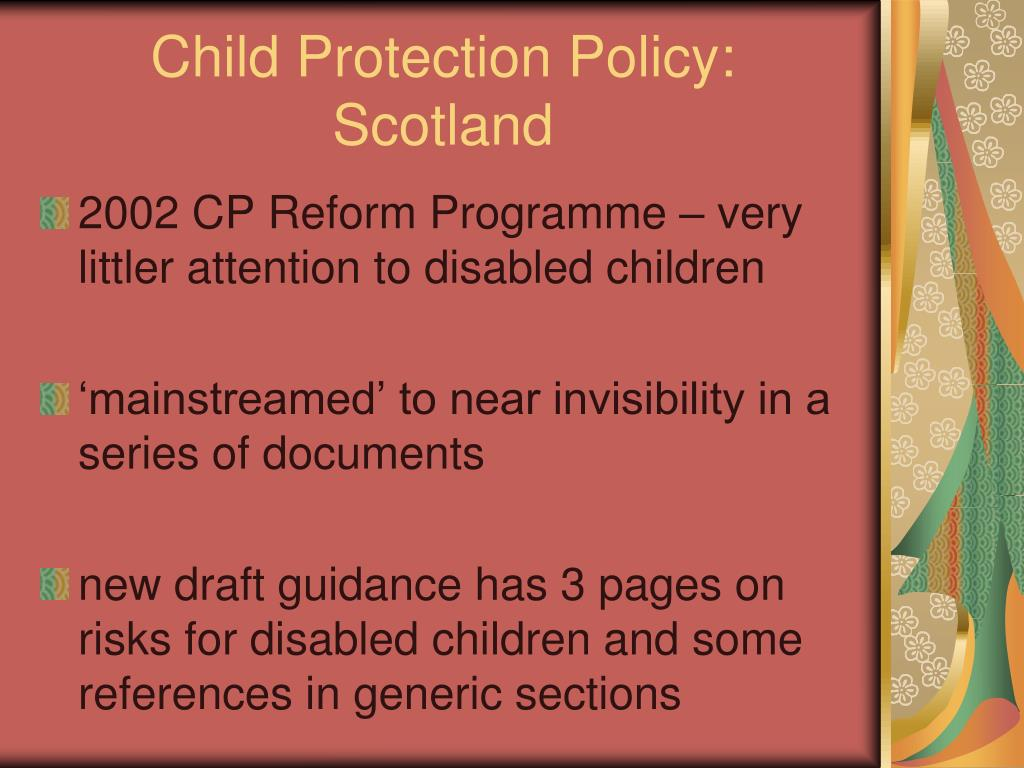 Child Protection Policy: Scotland