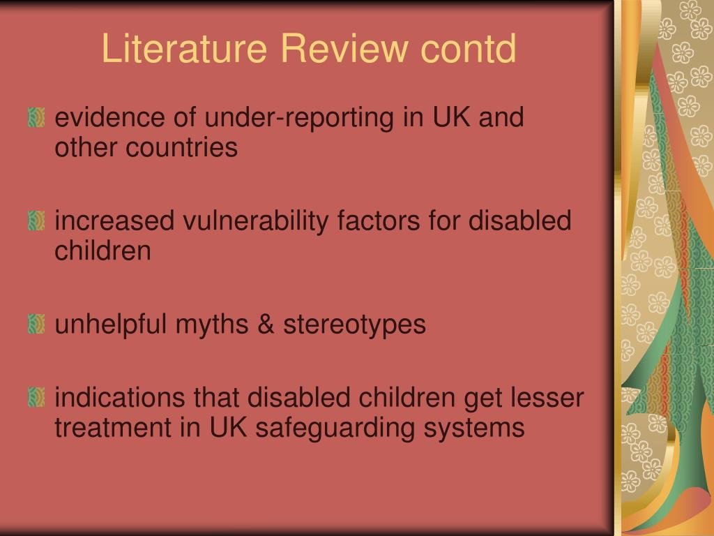 Literature Review contd