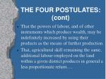 the four postulates cont