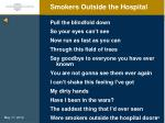 smokers outside the hospital