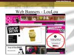 web banners loulou