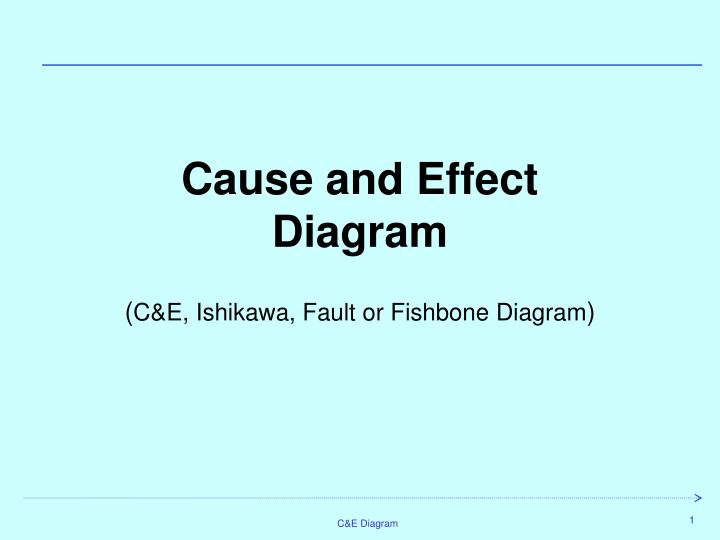 Ppt cause and effect diagram campe ishikawa fault or cause and effect diagramce ishikawa fault or fishbone diagram ccuart Choice Image