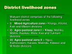 district livelihood zones