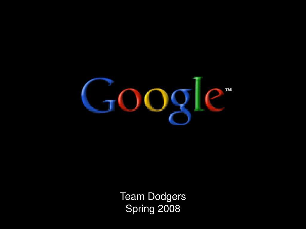 team dodgers spring 2008 l.