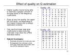 effect of quality on q estimation