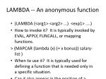 lambda an anonymous function