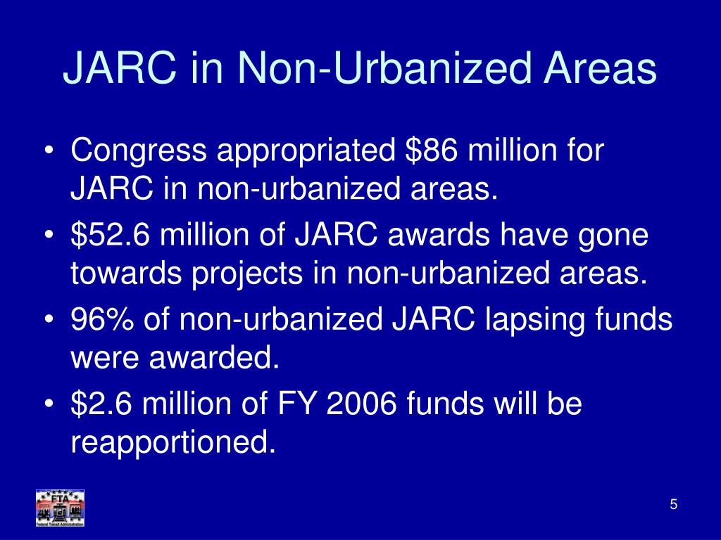 JARC in Non-Urbanized Areas