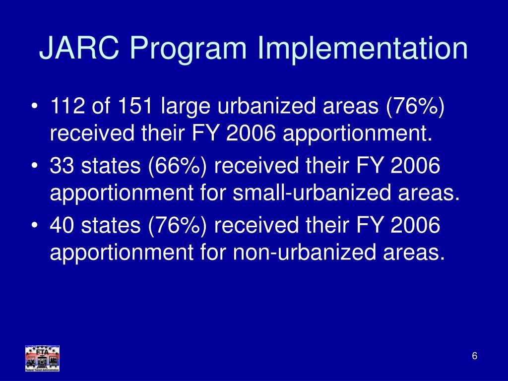 JARC Program Implementation