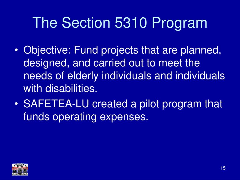 The Section 5310 Program