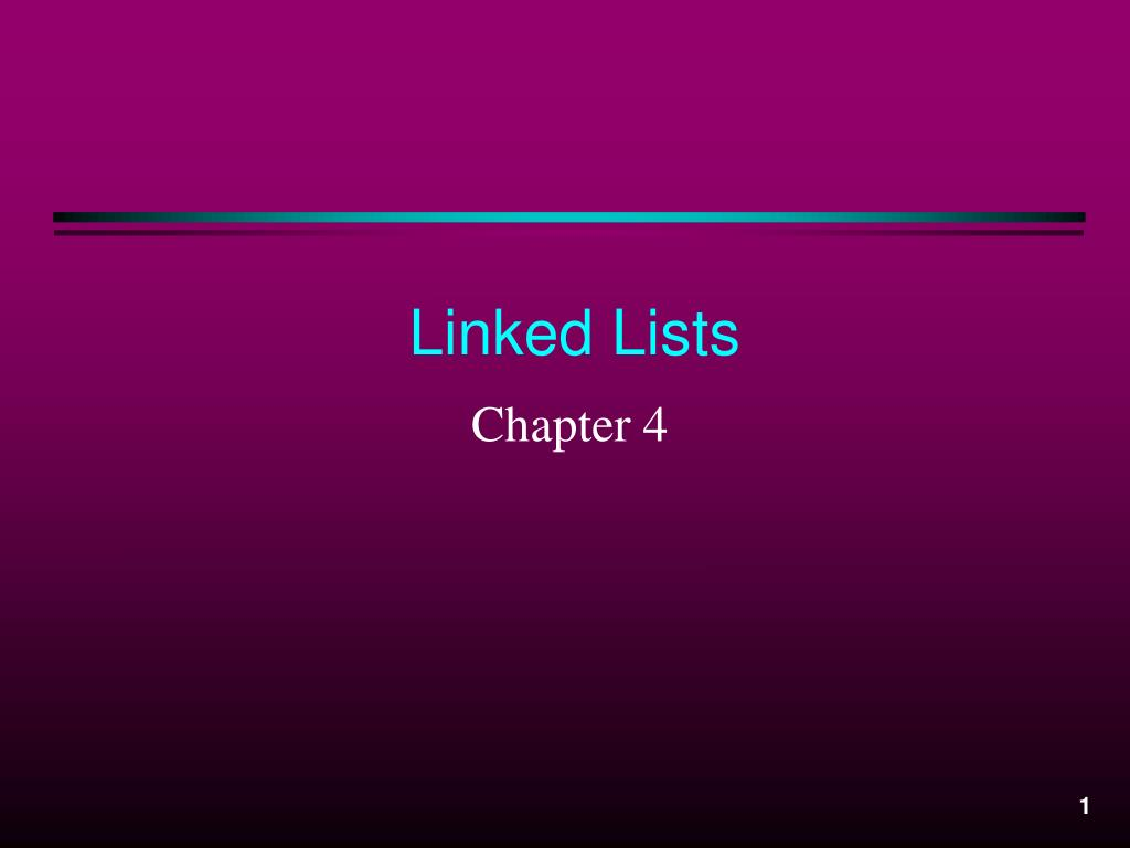 linked lists l.