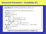 advanced extraction scalability 2 3