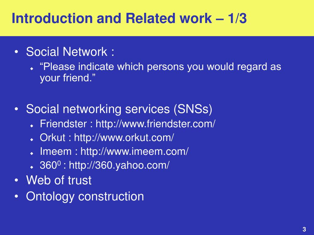 Introduction and Related work – 1/3