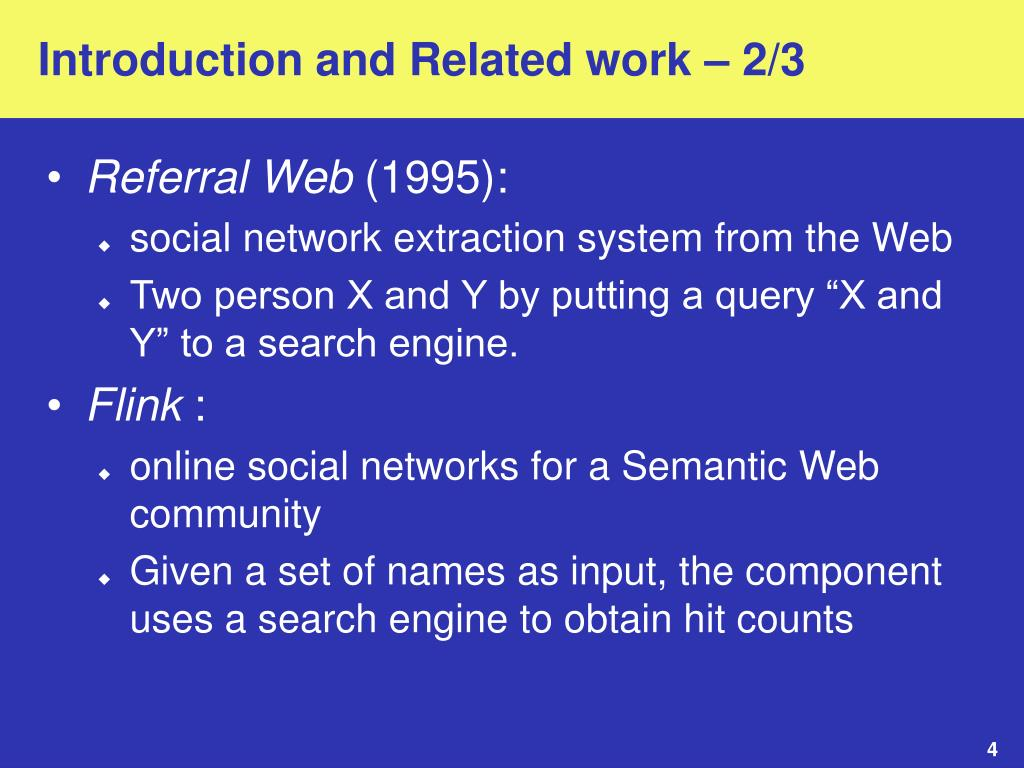 Introduction and Related work – 2/3