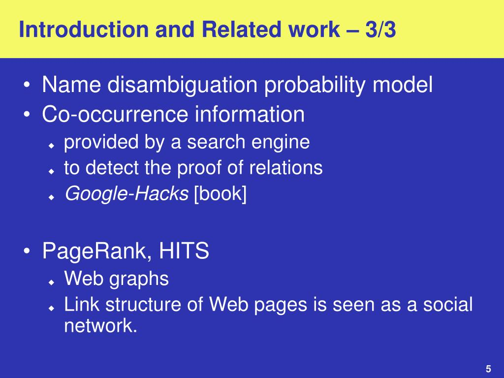 Introduction and Related work – 3/3