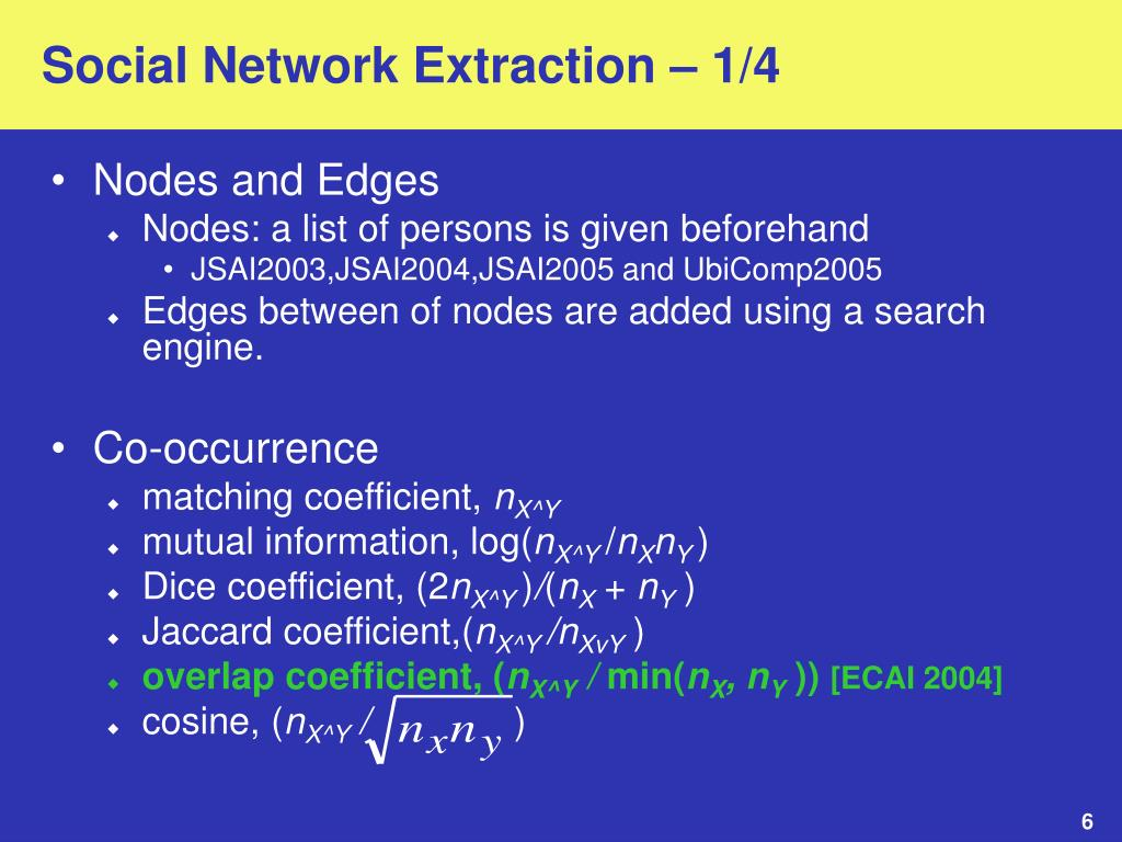 Social Network Extraction – 1/4