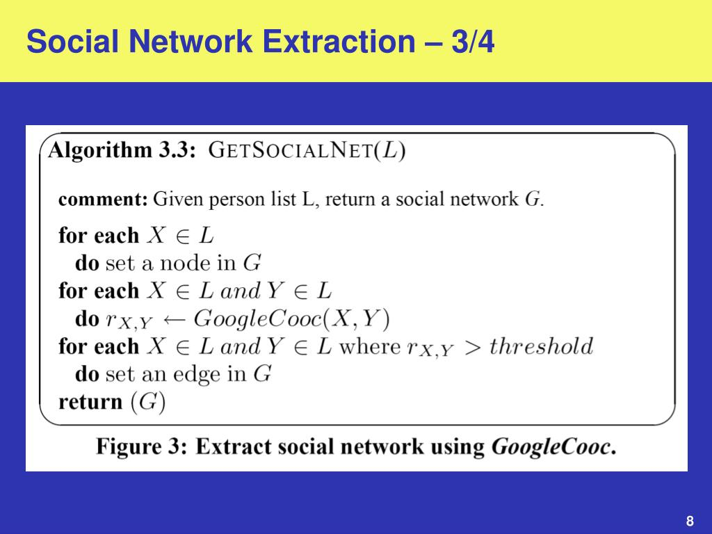 Social Network Extraction – 3/4
