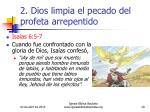 2 dios limpia el pecado del profeta arrepentido