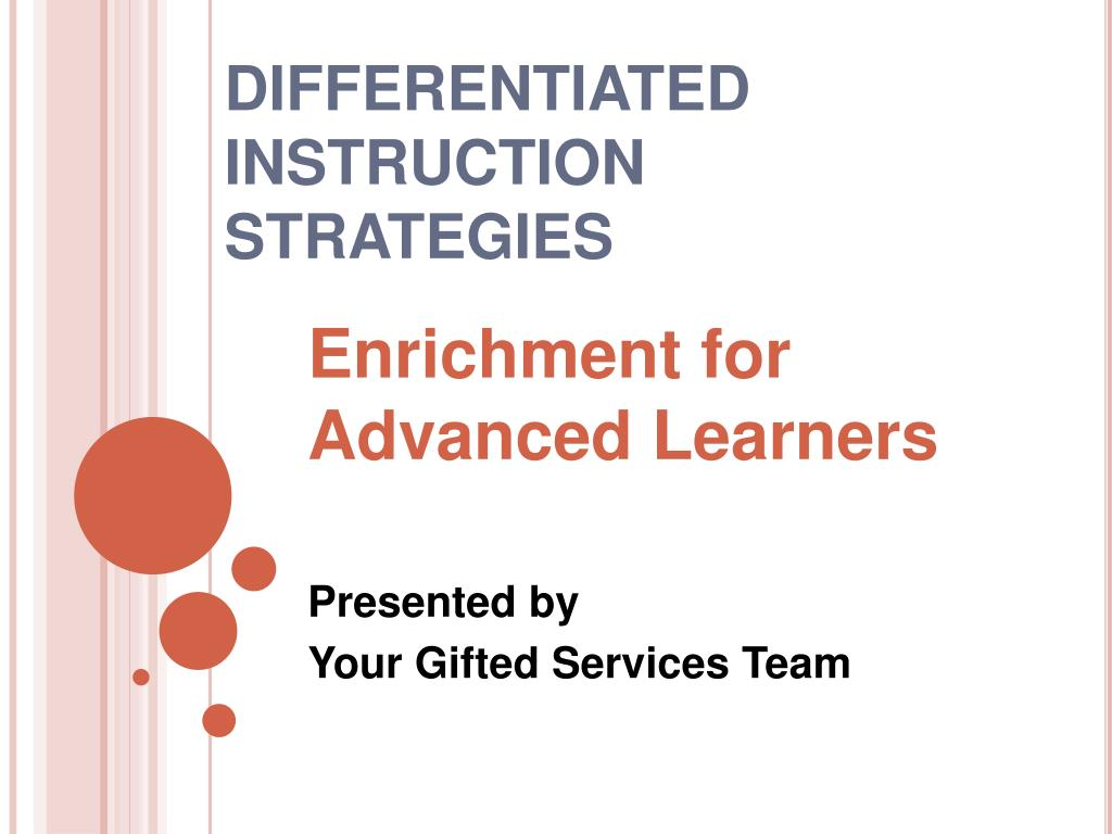 differentiated instruction strategies l.
