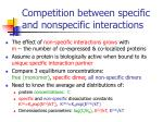 competition between specific and nonspecific interactions29