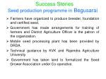 seed production programme in begusarai