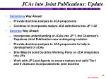 jcas into joint publications update