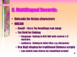 ii multilingual records