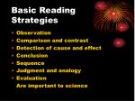 basic reading strategies