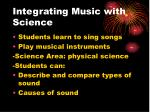 integrating music with science