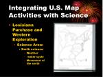integrating u s map activities with science