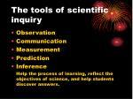 the tools of scientific inquiry