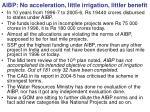 aibp no acceleration little irrigation littler benefit