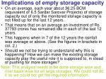 implications of empty storage capacity