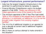 largest infrastructure poorest performance