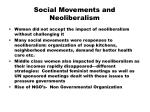social movements and neoliberalism