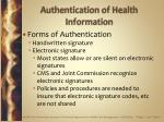 authentication of health information25
